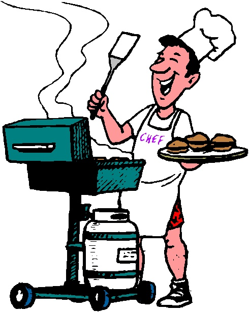 Free funny friends clipartmansion. Bbq clipart dad
