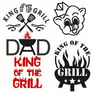 King of the grill. Bbq clipart dad