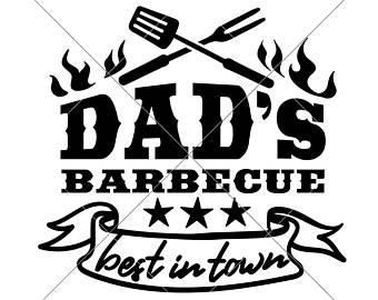 Bbq clipart dad. Barbecue svg file etsy