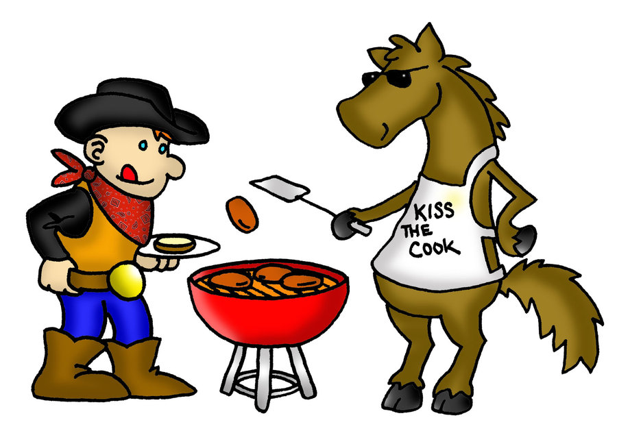 Barbecue clipart kid. Cowboy bbq by philipbedard