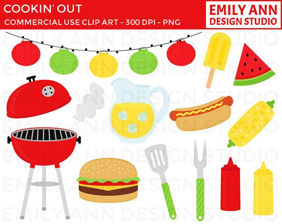 Bbq cook out summer. Barbecue clipart flyer