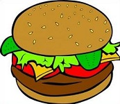 Hamburger clipart bbq food. Free barbecue