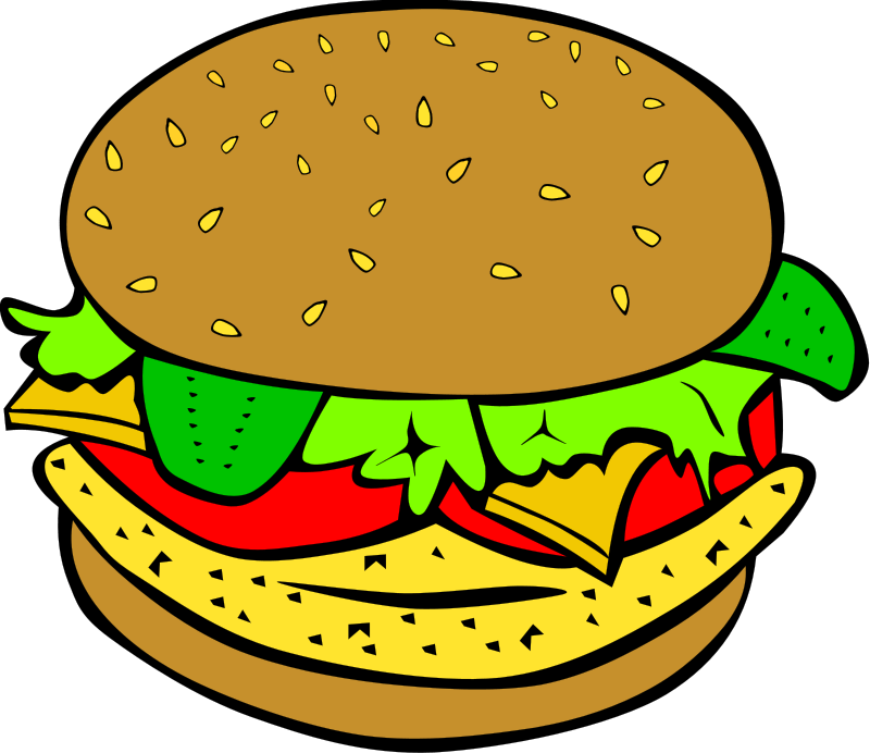 Hamburger clipart bbq food. Free barbecue dinner cliparts