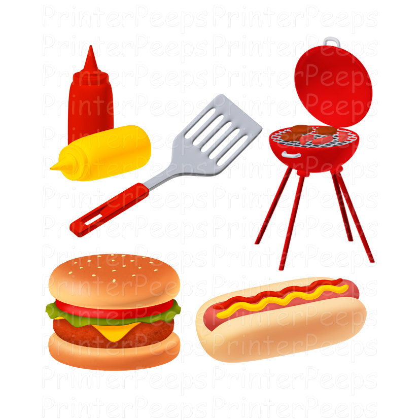 Free pictures of download. Hamburger clipart bbq food