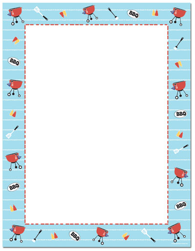 Bbq time letterhead summertime. Cookout clipart frame