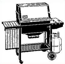 Barbecue clipart gas grill. Free