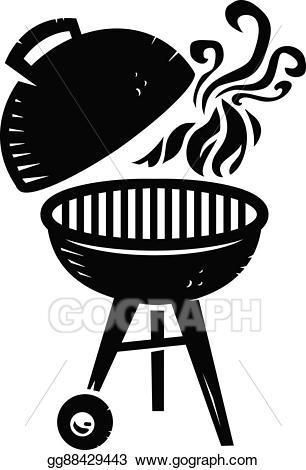 Vector stock grill cooking. Bbq clipart illustration