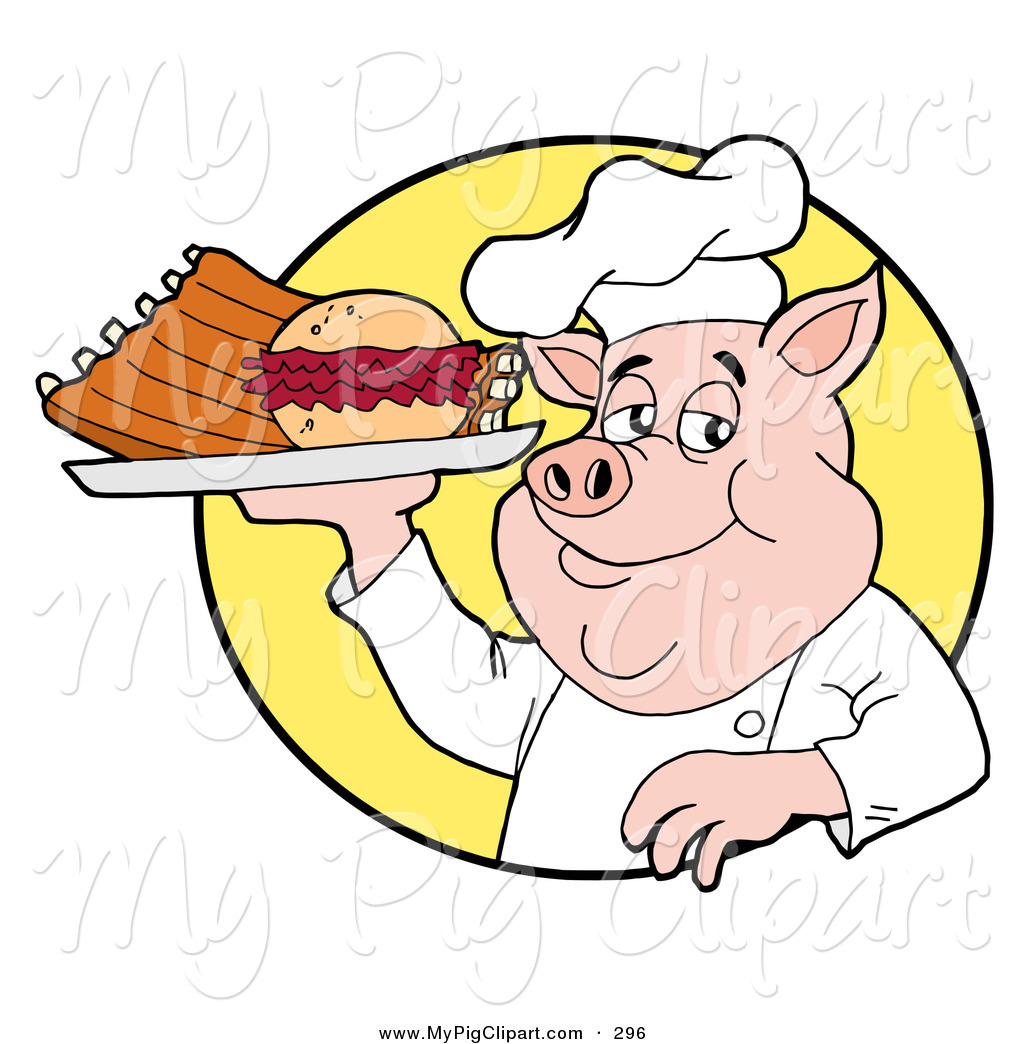 Swine of a chubby. Bbq clipart pulled pork