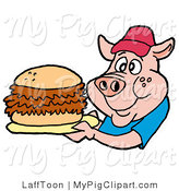 Royalty free stock pig. Bbq clipart pulled pork