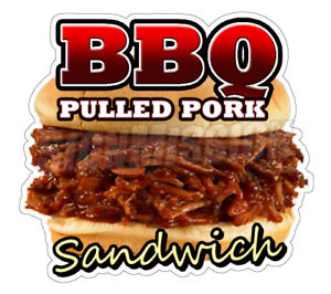 Bbq clipart pulled pork. Sandwich concession decal restaurant