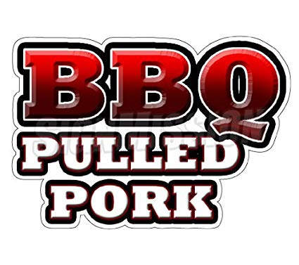 Amazon com concession decal. Bbq clipart pulled pork