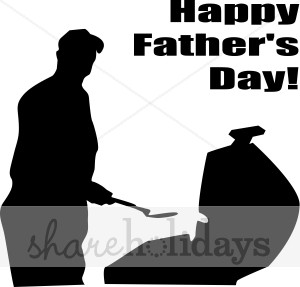 Black word art fathers. Bbq clipart silhouette