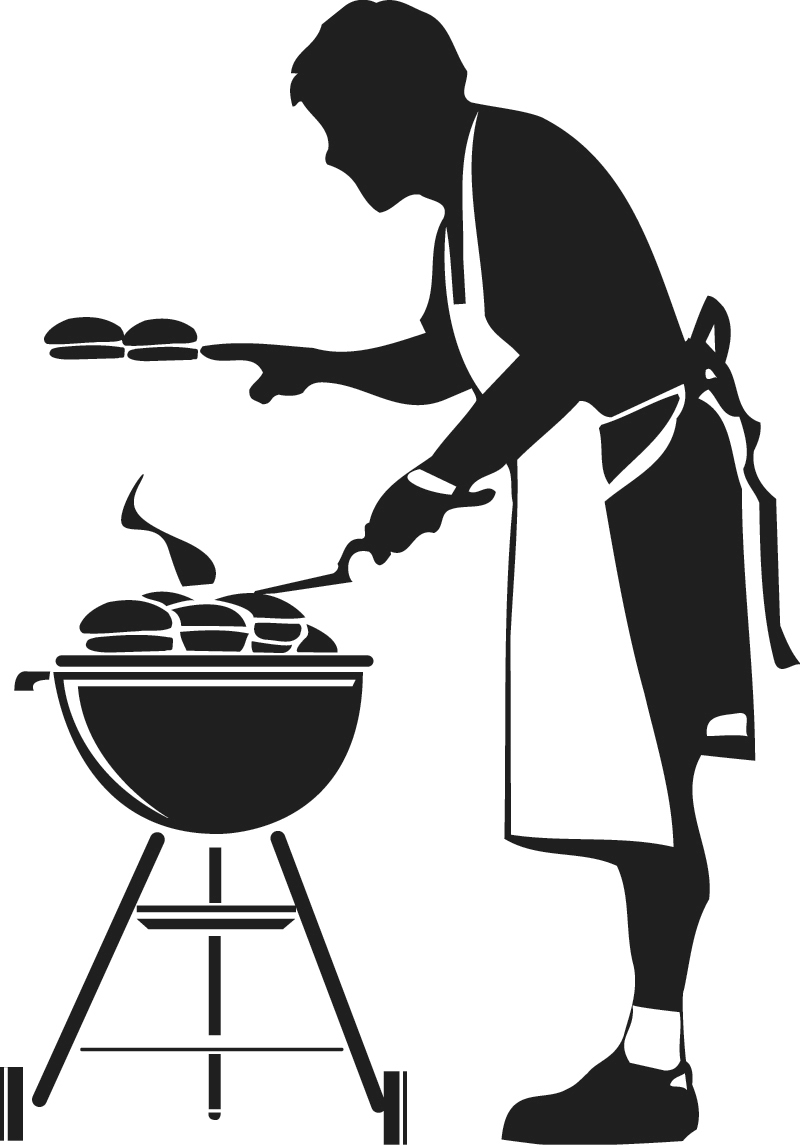 Grill clipart kitchen. Bbq silhouette wikiclipart