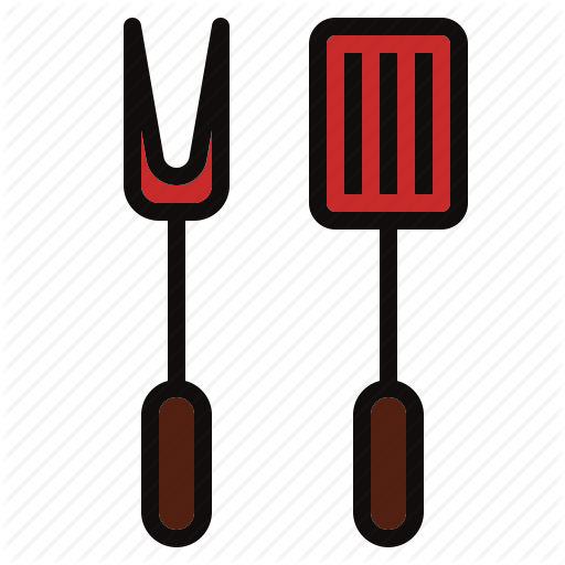 Bbq clipart spatula. Iconfinder barbecue color by
