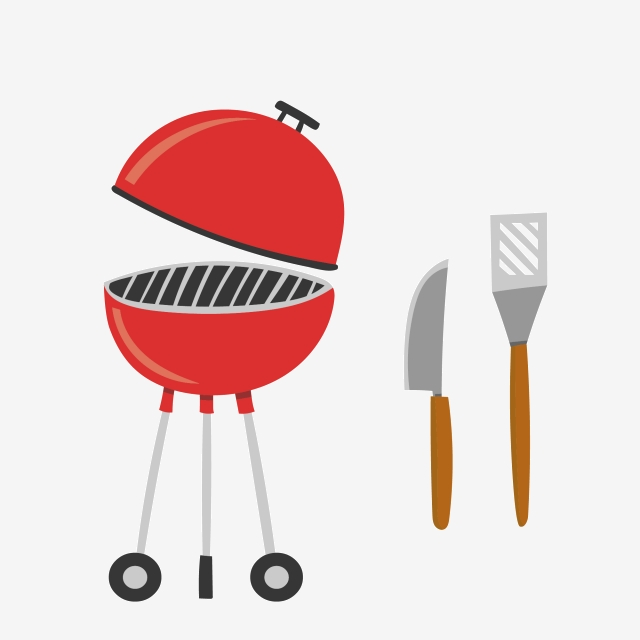 Barbecue knife and fork. Bbq clipart stove