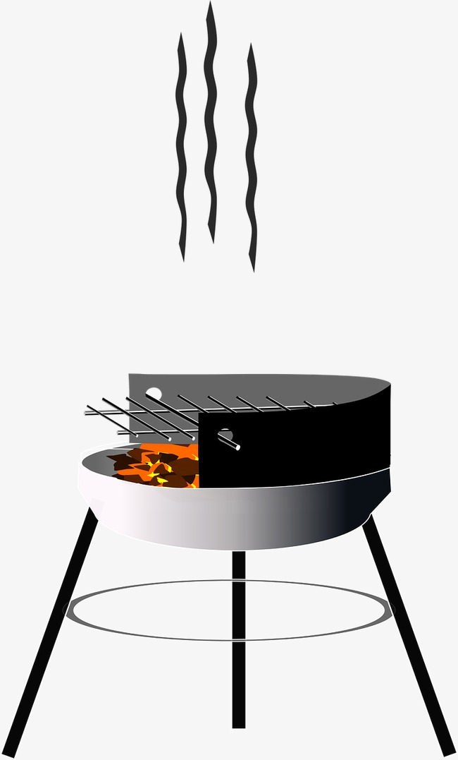 Bbq clipart stove. Burning charcoal barbecue png