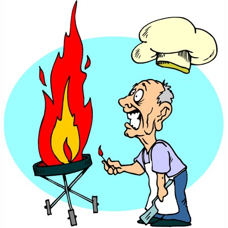 Watch out for fires. Bbq clipart stove