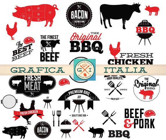 Bbq barbeque elements digital. Barbecue clipart transparent background