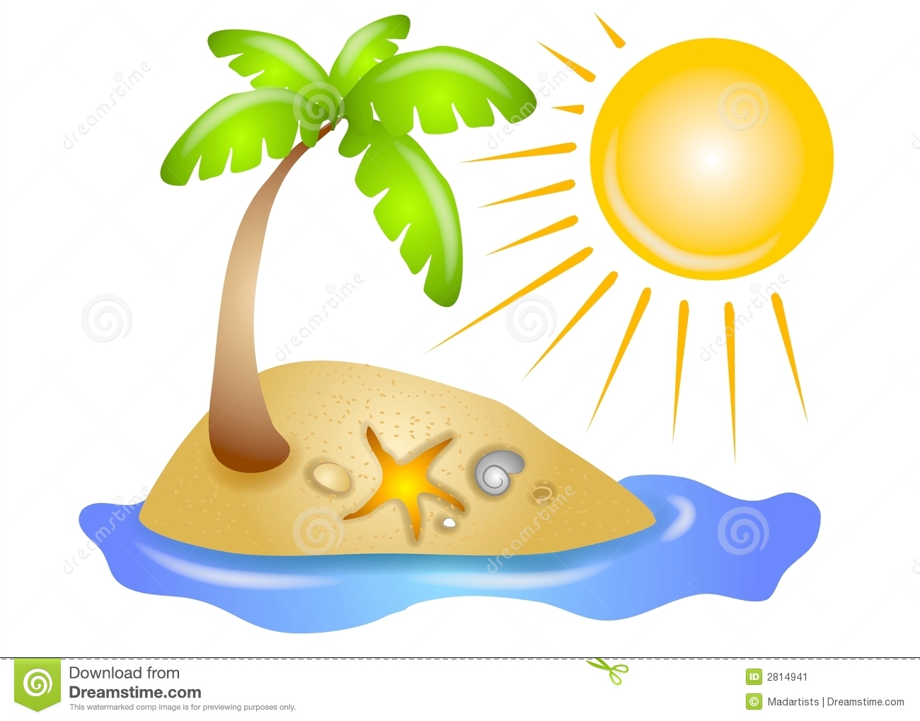 Palm tree . Clipart beach