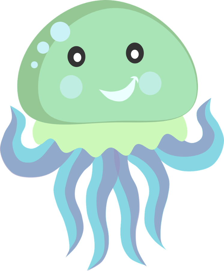 Shell clipart jellyfish.  ocean safari pinteres