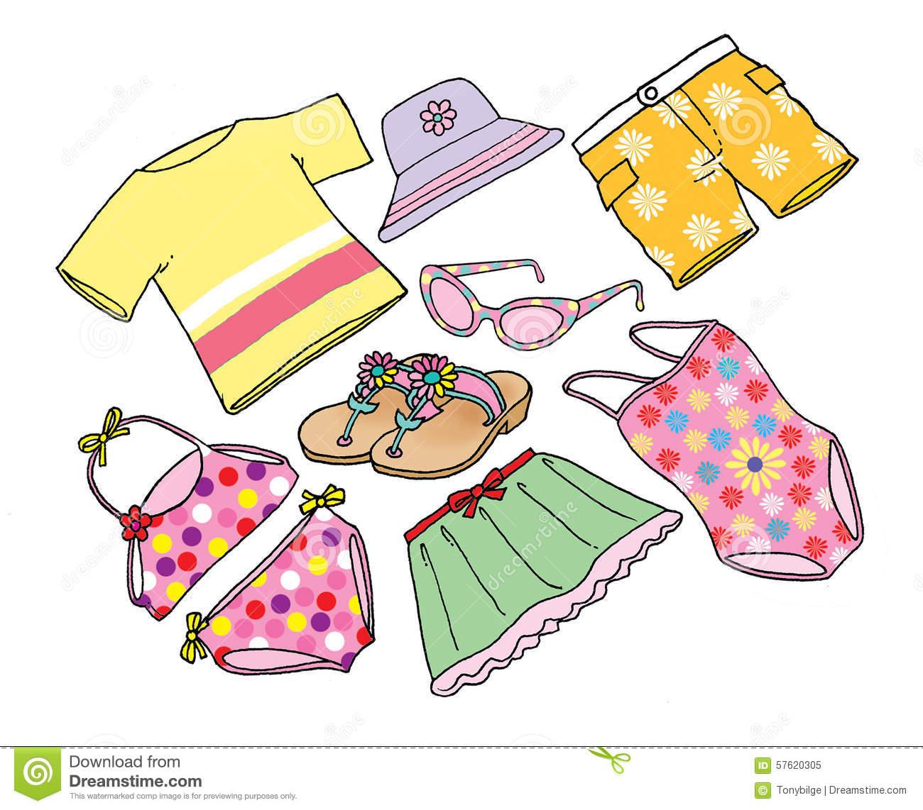 Clothes . Beach clipart attire