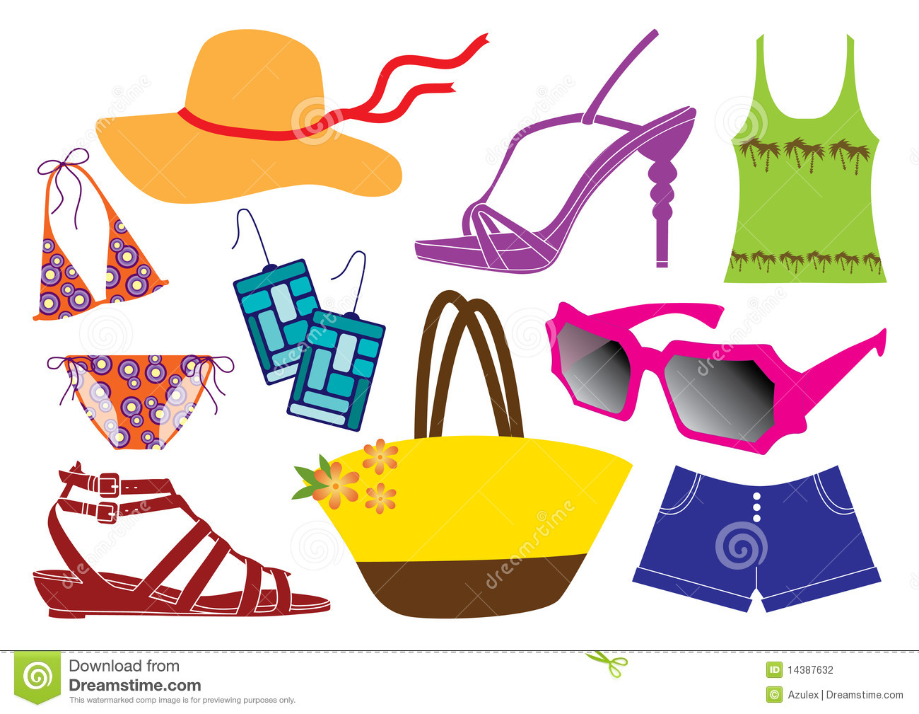Beach clipart attire.  collection of clothes