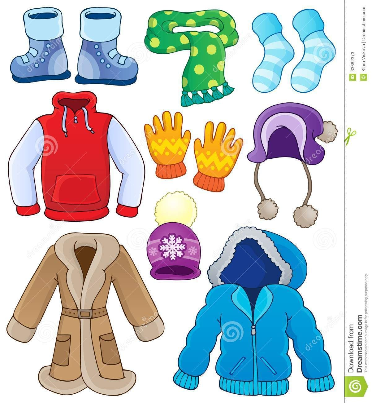 Mittens clipart cold weather clothes. Clip art winter clothin