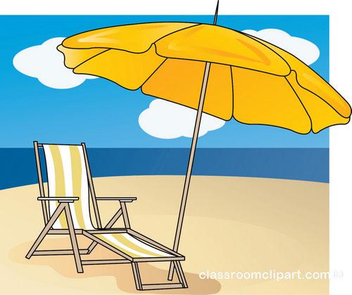 Beach clipart beach chair. Yellow