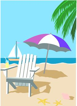 Chair clip art umbrella. Clipart beach
