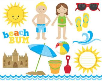 Beach clipart beach item. Printable