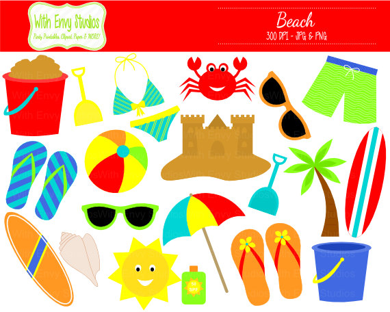 Items . Beach clipart beach item