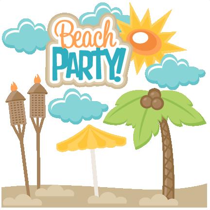 Text line transparent clip. Beach clipart beach party