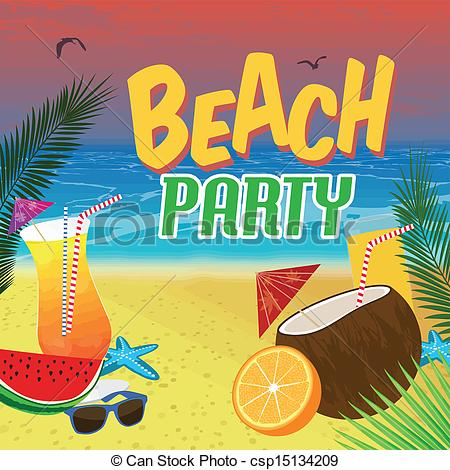 Beach clipart beach party. Free