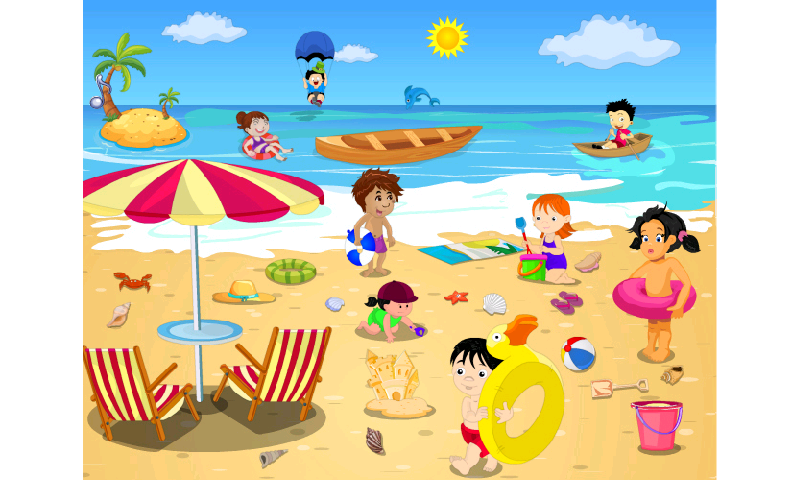 Beach clipart beach scene. Clip art best cute