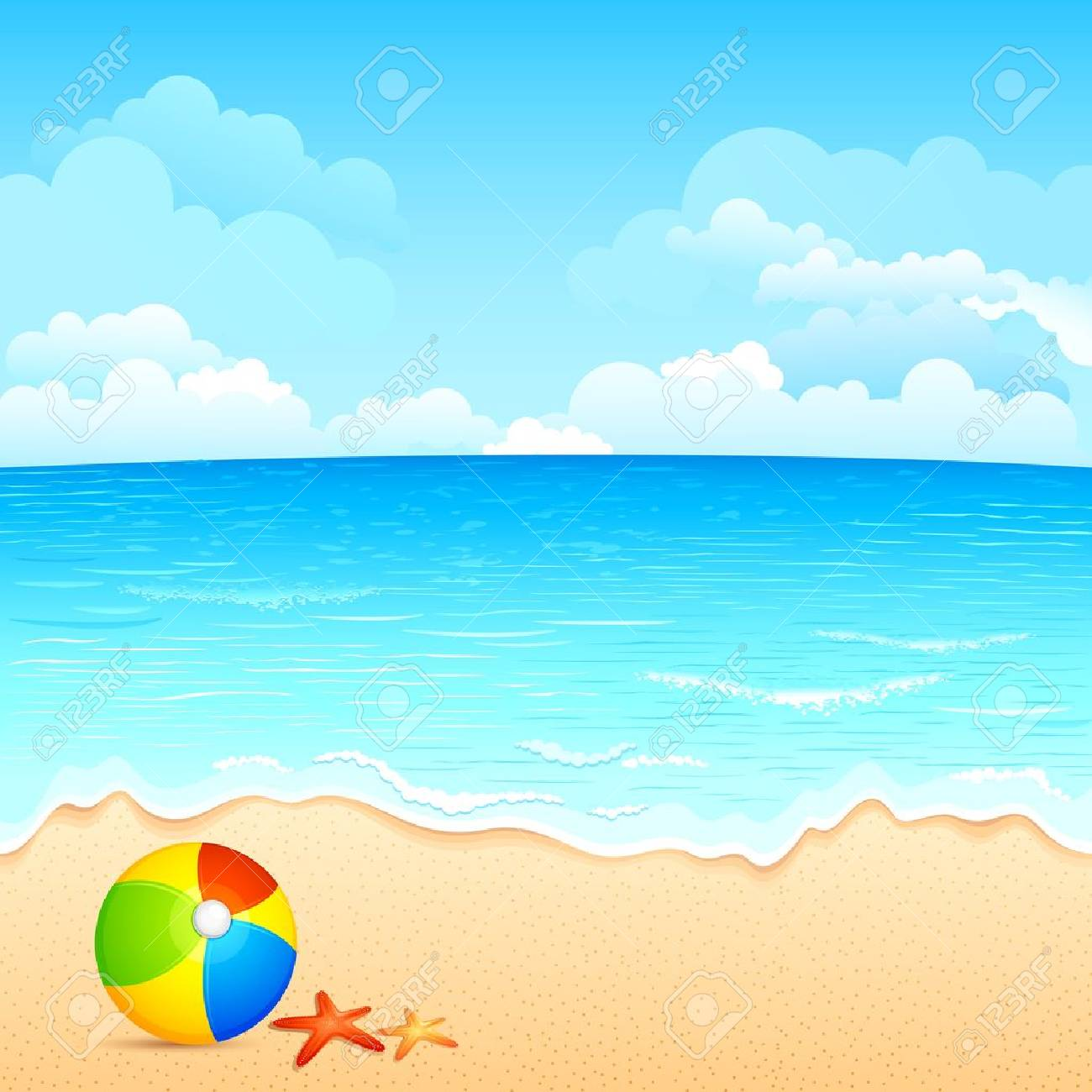 Station . Beach clipart beach scene