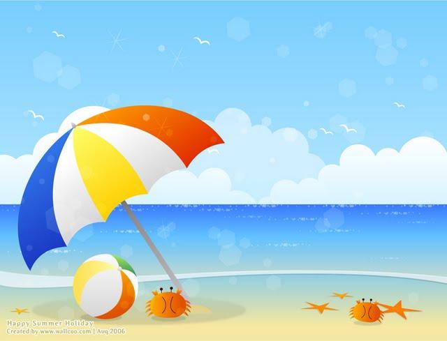Free images clipartix . Beach clipart beach scene