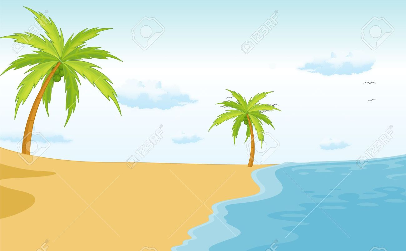 beach clipart beach scene