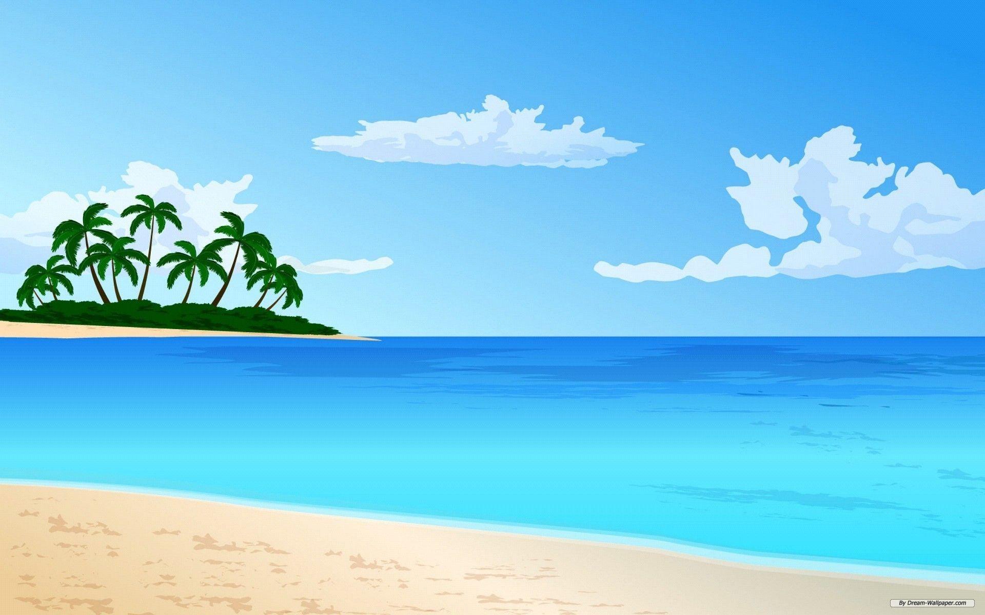 Beach clipart beach scene. Wallpaper hdwallsdeks pinterest background