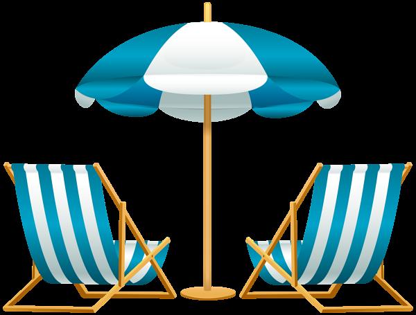 Umbrella with chairs free. Beach clipart beach stuff