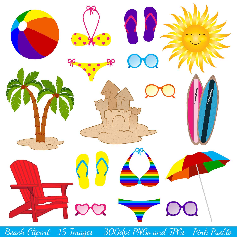 Beach clipart beach theme. Themed clip art ea