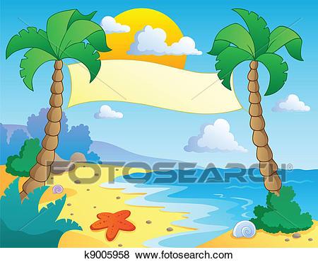 Beach clipart beach theme. Scenery clip art images
