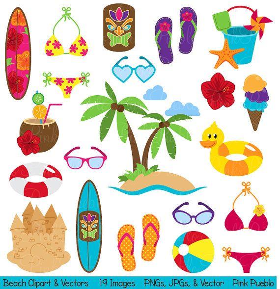 Clip art summer vacation. Beach clipart beach theme