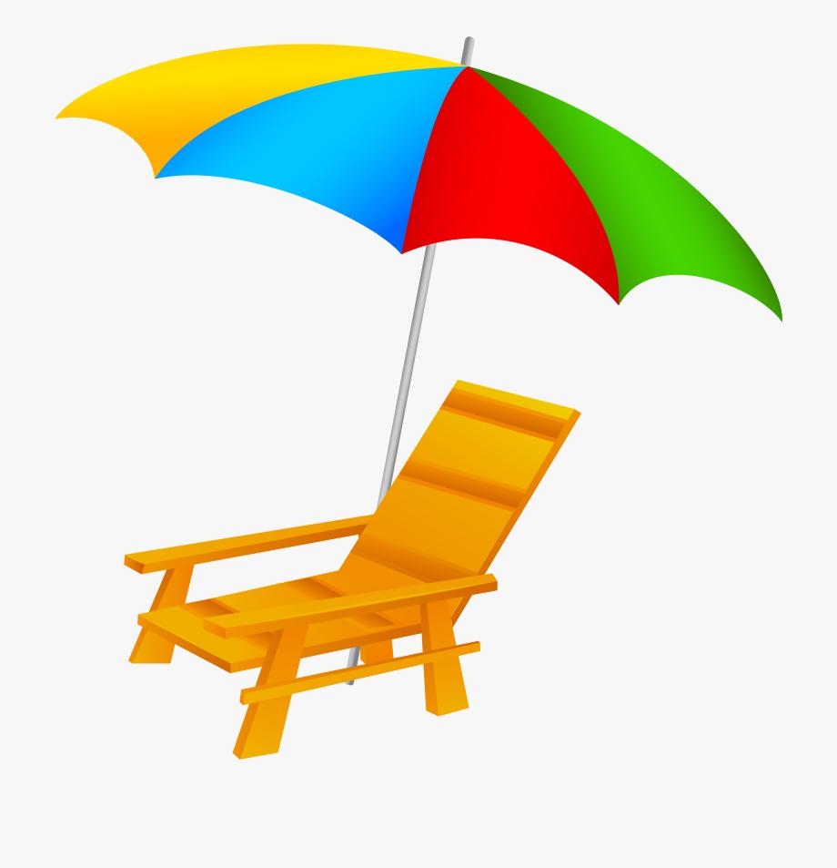 And chair png clip. Beach clipart beach umbrella