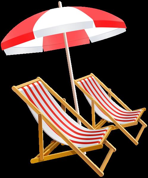Beach clipart beach umbrella. And chairs png clip