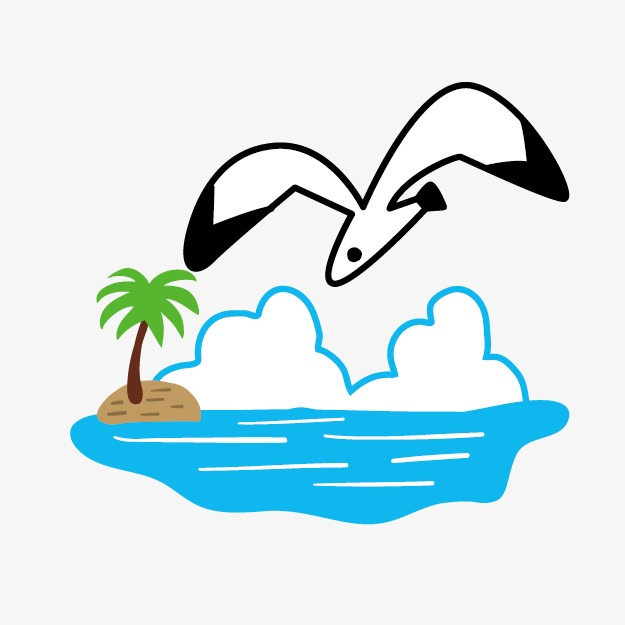 Beach clipart bird. Seagull elements png image