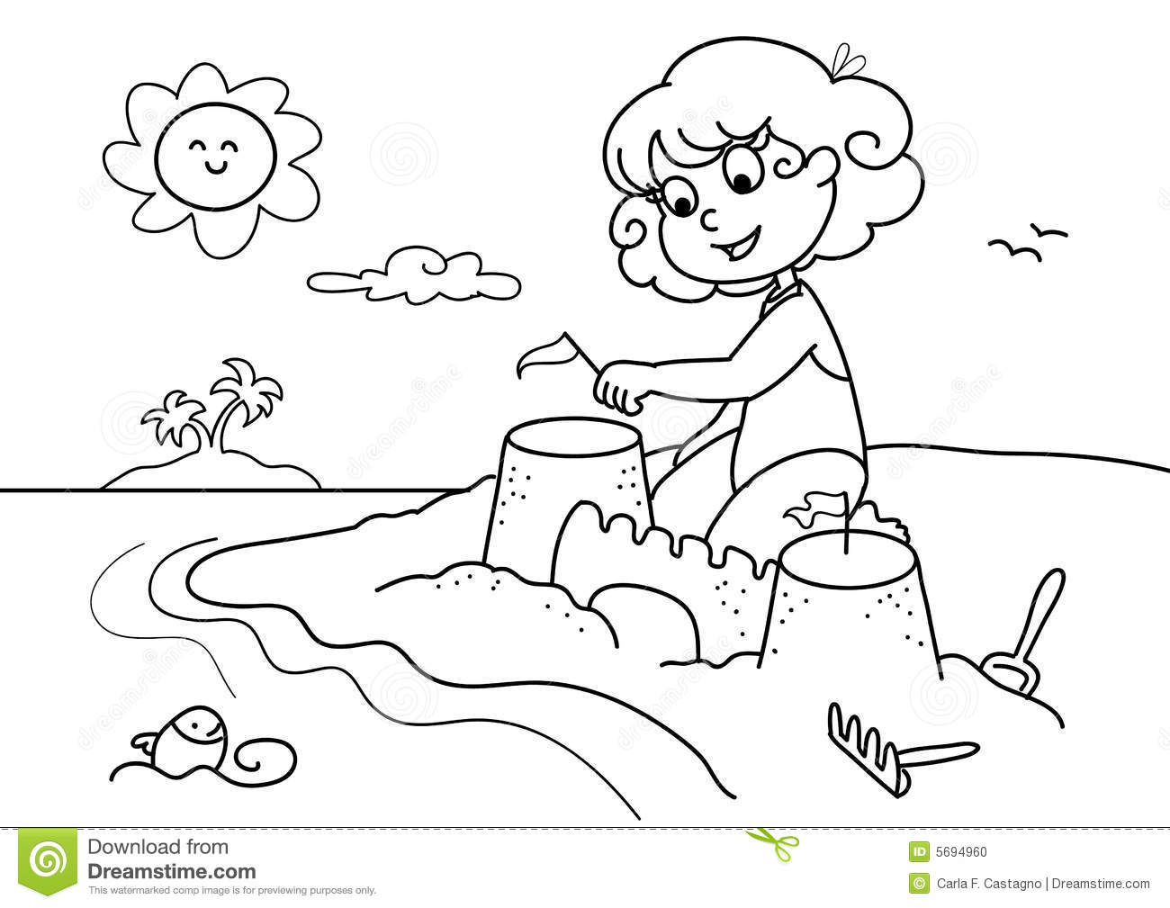 Station . Beach clipart black and white