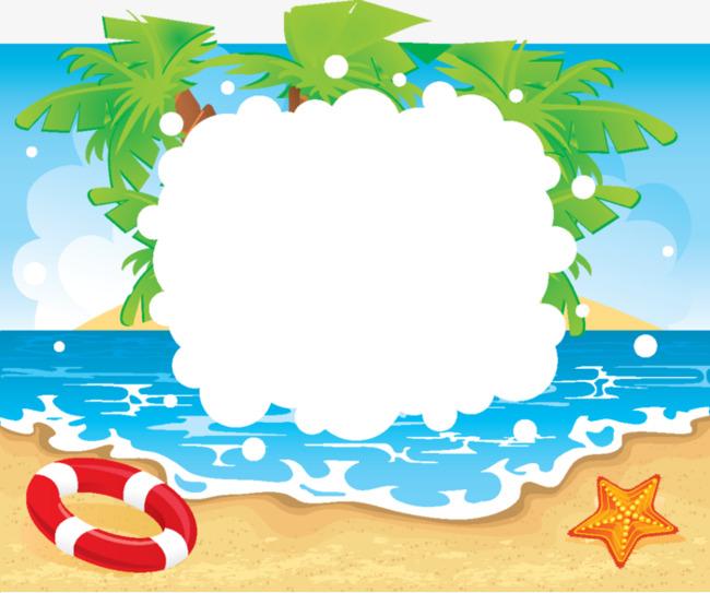 beach clipart boarder