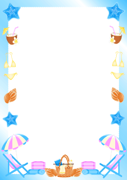Day border png page. Beach clipart borders