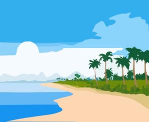 Tropical vector clip. Beach clipart cartoon