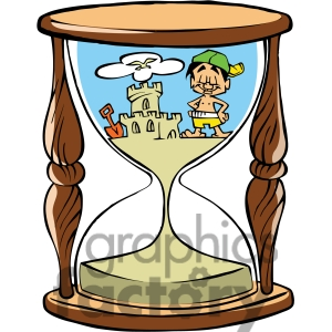 Hourglass . Beach clipart cartoon